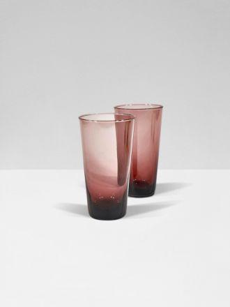 Blush Moorea Set of 2 Hi Ball Glasses by Bison