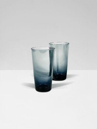 Smoke Moorea Set of 2 Hi Ball Glasses by Bison