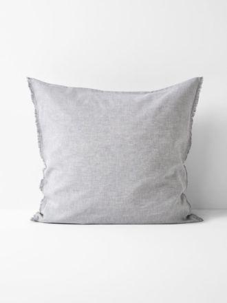 Chambray Fringe European Pillowcase - Dove