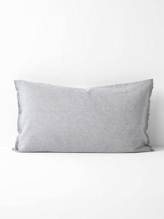 Chambray Fringe Standard Pillowcase - Dove