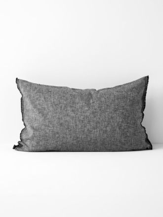 Chambray Fringe Standard Pillowcase - Smoke