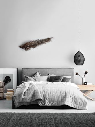 Chambray Bed Cover - Dove
