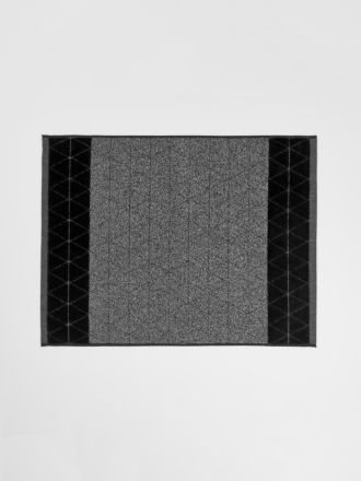 Chambray Border Bath Mat - Black