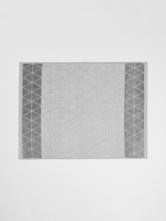 Chambray Border Bath Mat - Dove