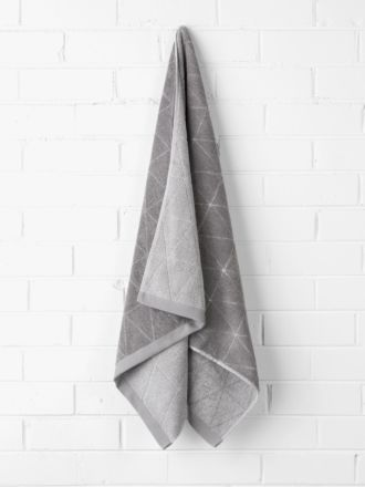 Chambray Diamond Bath Sheet - Cloud Grey