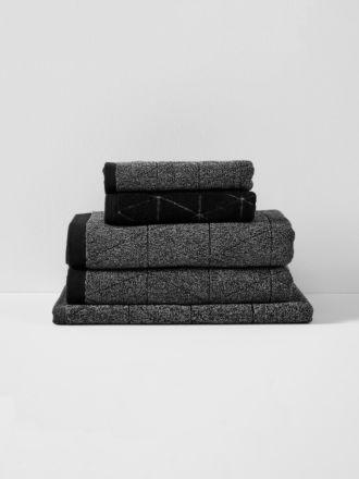 Chambray Diamond Bath Towel Set - Khol