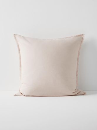 Chambray Fringe European Pillowcase - Blush