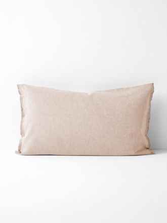 Chambray Fringe Standard Pillowcase - Blush