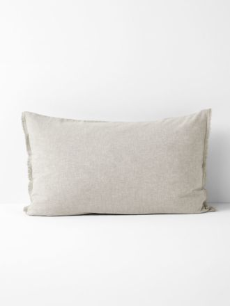 Chambray Fringe Standard Pillowcase - Natural