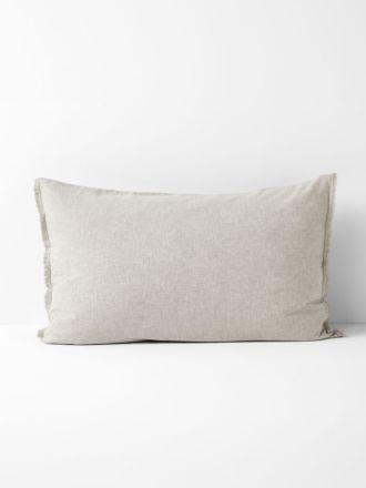 Chambray Fringe Standard Pillowcase - Natural