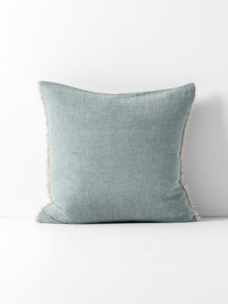 Chambray Linen Cushion - Cloud Blue