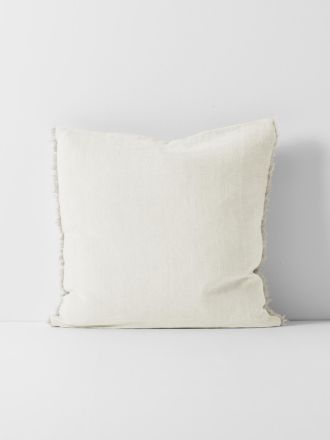 Chambray Linen Cushion - Marshmallow