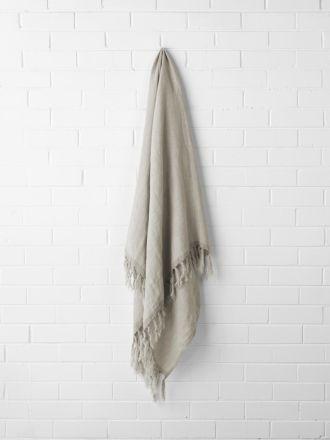 Chambray Linen Throw - Natural