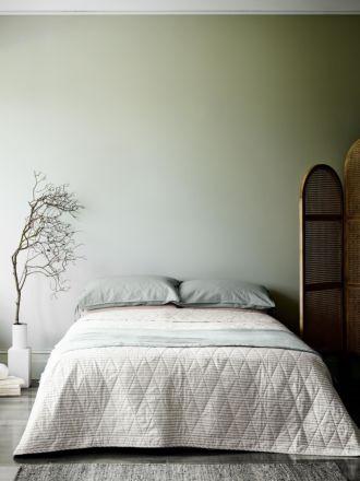 Vintage Stripe Bed Cover - Mink