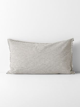 Vintage Stripe Standard Pillowcase - Black