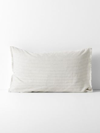 Chambray Vintage Stripe Standard Pillowcase - Dove