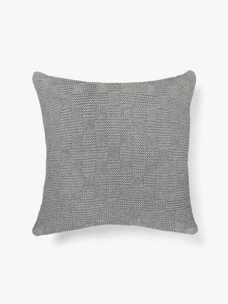 Check Cushion - Grey Marle