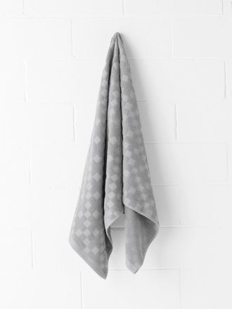 Check Bath Towel - Grey Marle