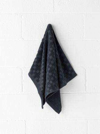 Check Hand Towel - Indigo Marle