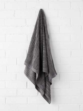 Contour Bath Towel - Charcoal