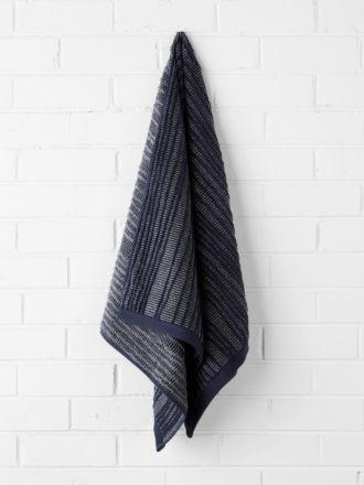 Contour Bath Towel - Indigo