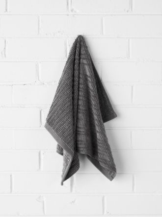 Contour Hand Towel - Charcoal