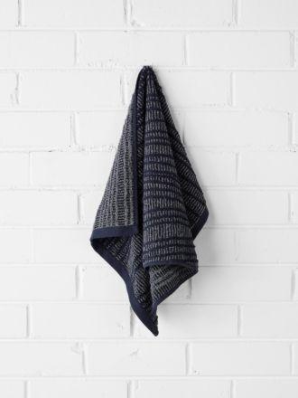 Contour Hand Towel - Indigo