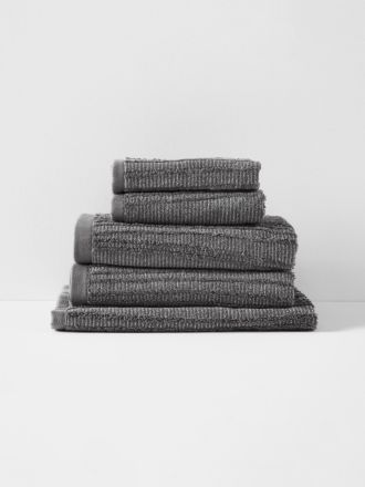 Contour Bath Towel Set - Charcoal