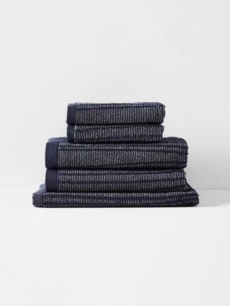 Contour Bath Towel Set - Indigo