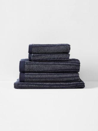 Contour Bath Towel Set - Indigo
