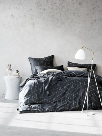 Cos Quilt Cover Set - Greystone