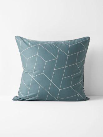 Cos European Pillowcase - Silver Blue