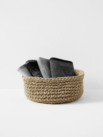 Crochet Basket - Extra Large Low - Jute