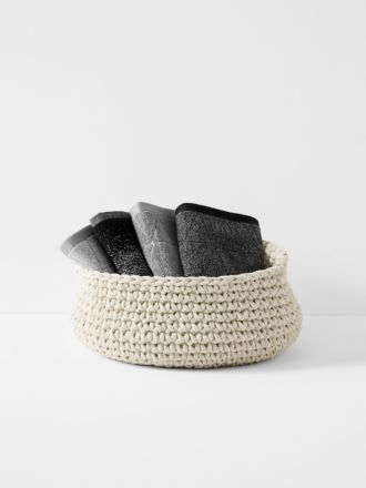 Crochet Basket - Extra Large Low - Natural
