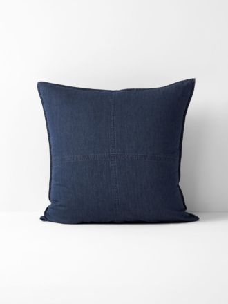 Denim European Pillowcase - Indigo