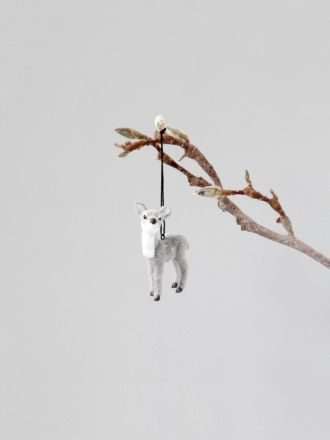 Fawn Hanging Decoration - Grey