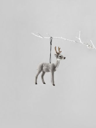 Reindeer Decoration - Grey