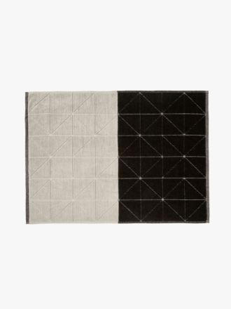 Duet Bath Mat - Black & Natural