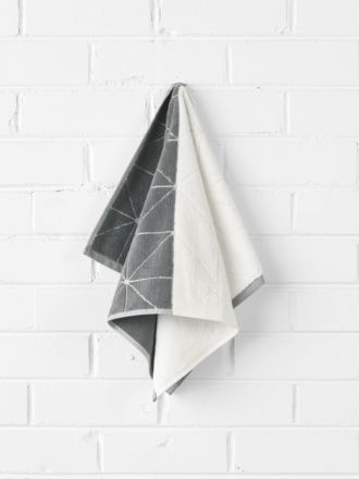 Duet Hand Towel - Smoke/Natural