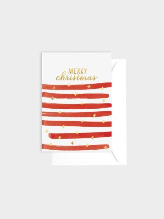 Merry Christmas Stripe by Elm Paper