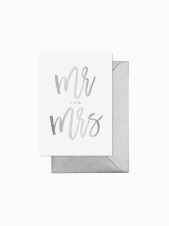 Mr and Mrs by Elm Paper
