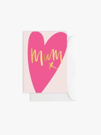 Mum Pink Heart by Elm Paper