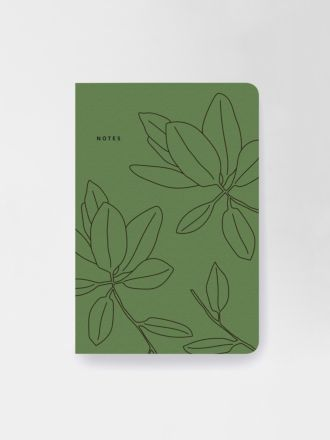 Green Leaves Notebook by Father Rabbit