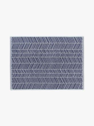 Feather Bath Mat - Stone Blue
