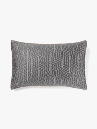 Feather Standard Pillowcase - Flint