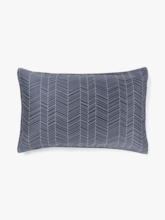 Feather Standard Pillowcase - Stone Blue