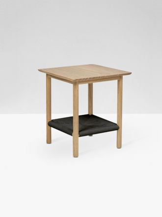 Anchor Woven Side Table in Black