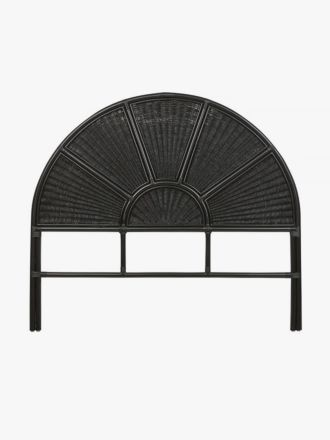 Avery Arch Woven Bedhead in Black