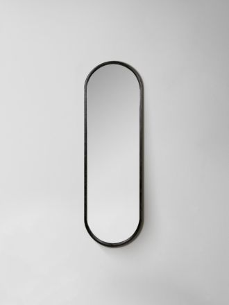 Brody Oval Mirror - Black