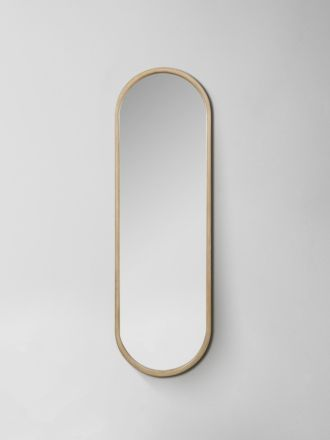 Brody Oval Mirror - Oak